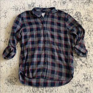 Men's Denim & Flower flannel XL navy gray